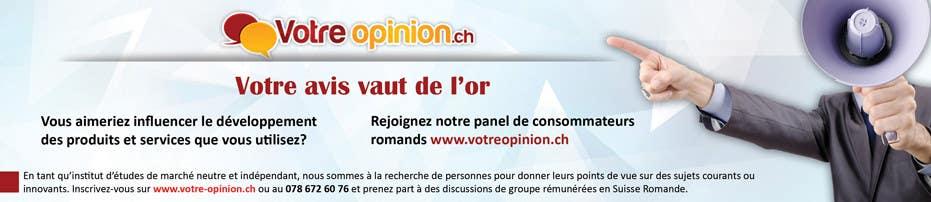 Konkurrenceindlæg #                                        23                                      for                                         Advertisement Design for www.votre-opinion.ch