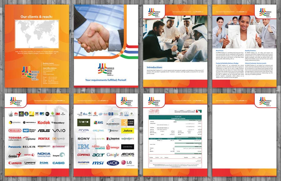 Contest Entry #                                        19                                      for                                         Brochure Design for World Wide Web Trading LLC