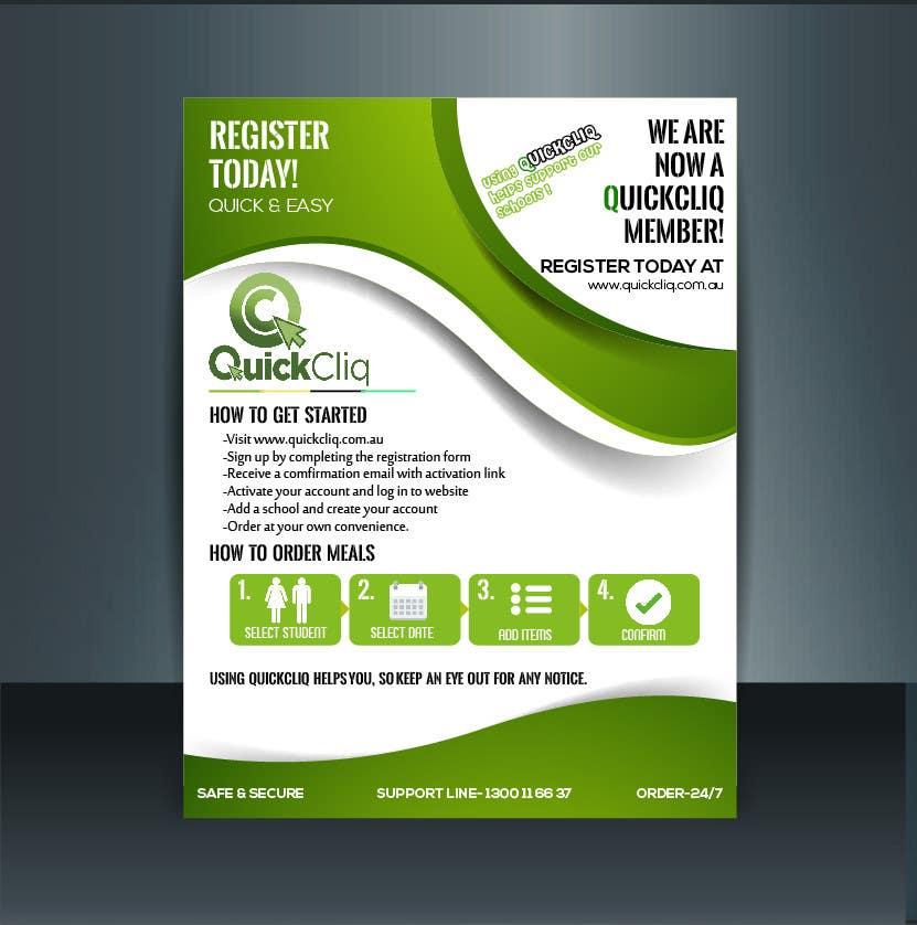 entry 35 by babarhossen for design an online ordering flyer for