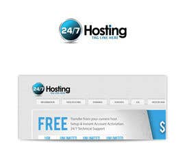 #60 para Logo Design for 24/7 Hosting por jakuart