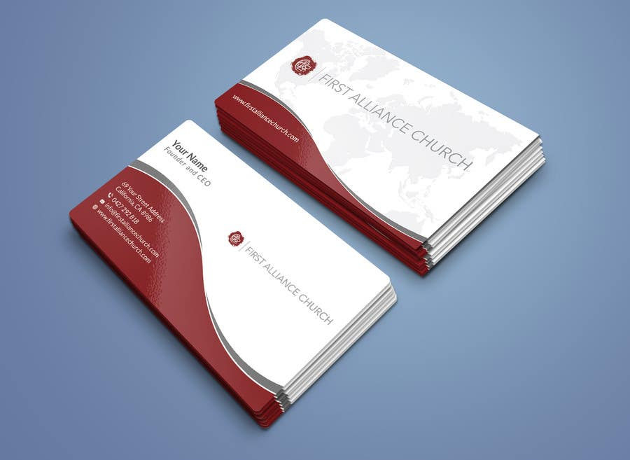 Entry #57 by R4960 for church business cards | Freelancer