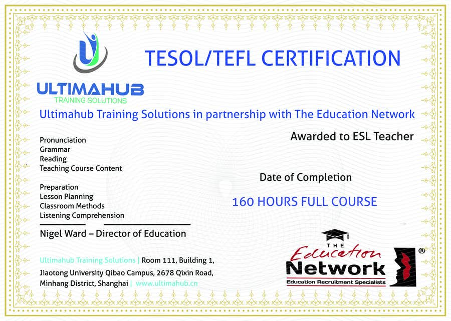 Entry #3 by MOUADSABER for Design a TEFL Certificate for our ...
