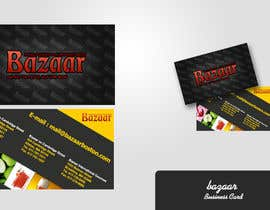 #25 para Business Card Design for Bazaar por dirav