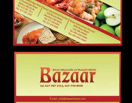 #22 para Business Card Design for Bazaar por TheCShields