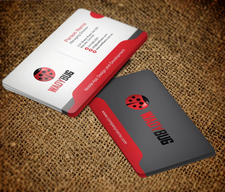Entry 66 by mdreyad for design business card for mobile app contest entry 66 for design business card for mobile app development company reheart Image collections