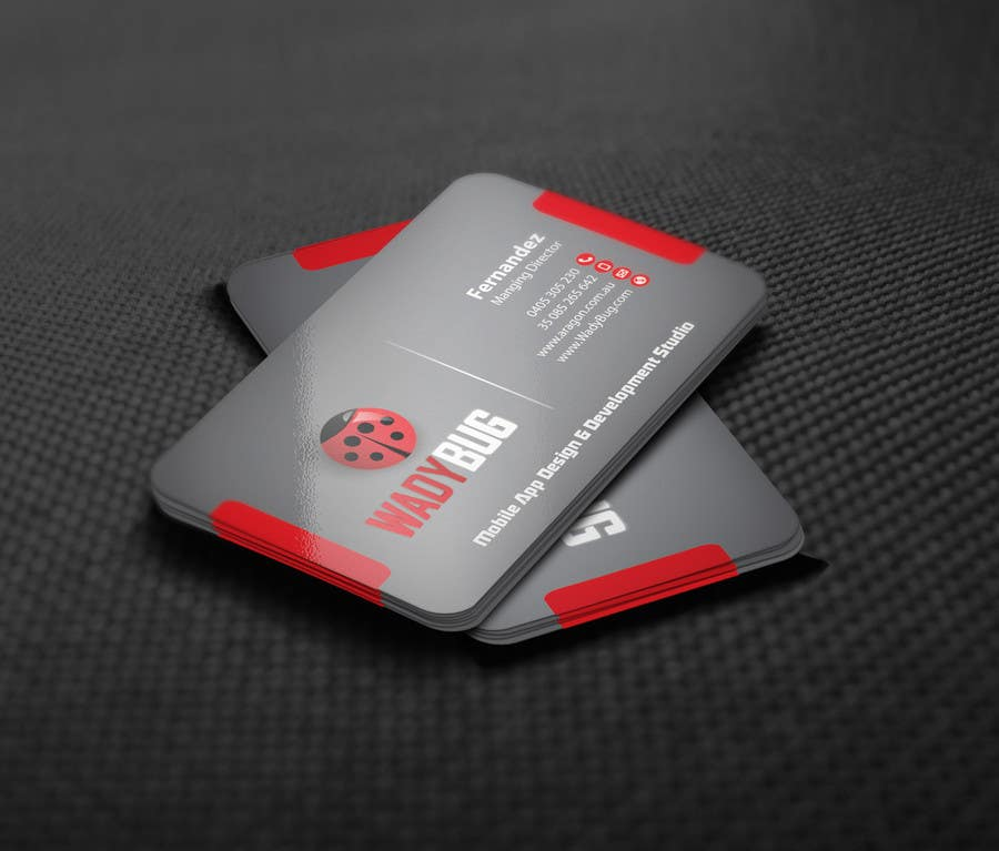 Entry #91 by mamun313 for Design business card for mobile App ...