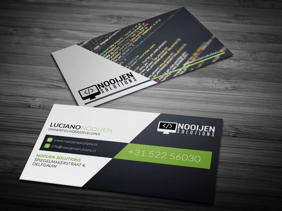 Entry #20 by anikush for Business card design for web developer ...