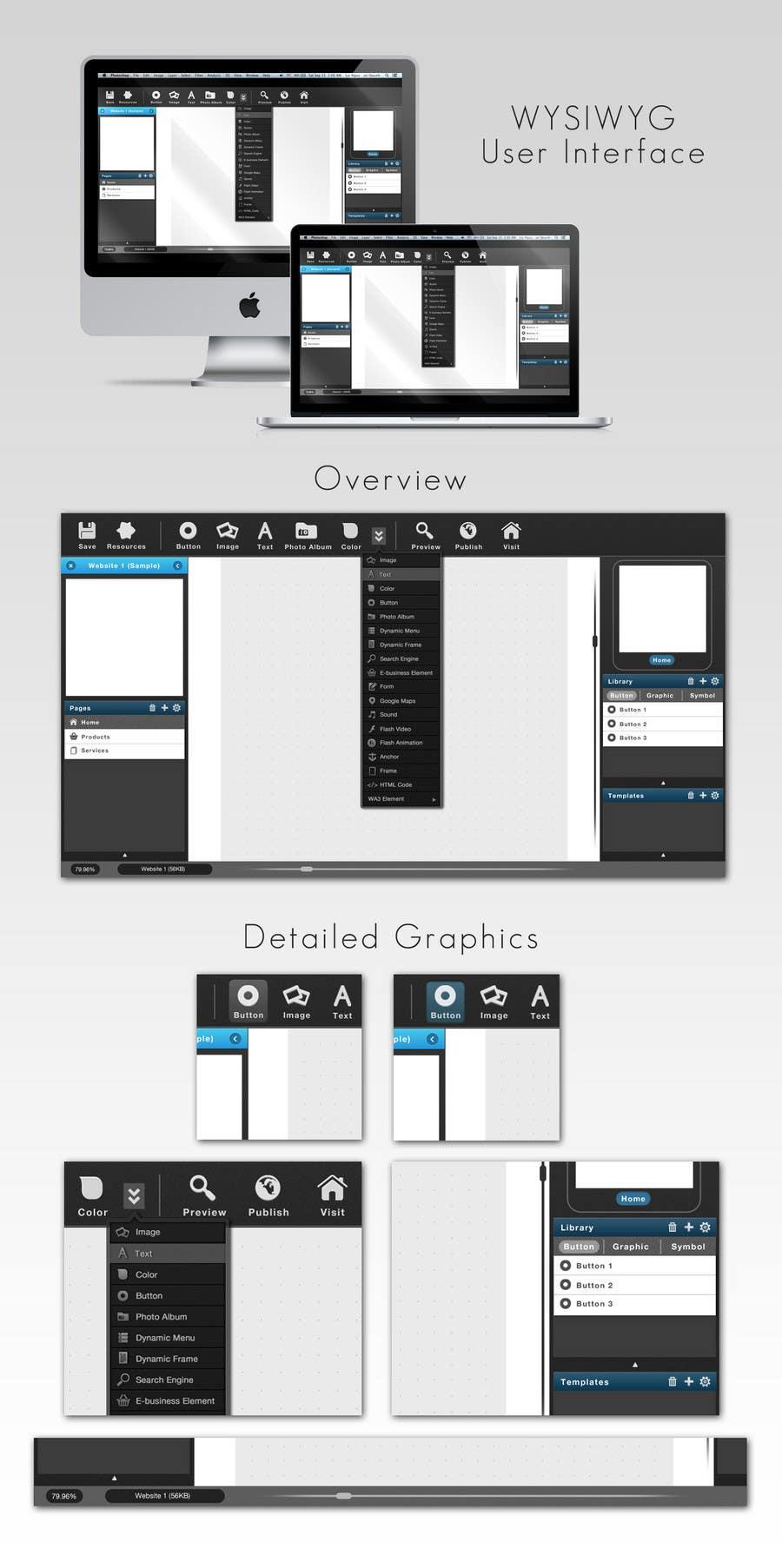 #19 for User Interface design for Website Builder Software by baoquynh132