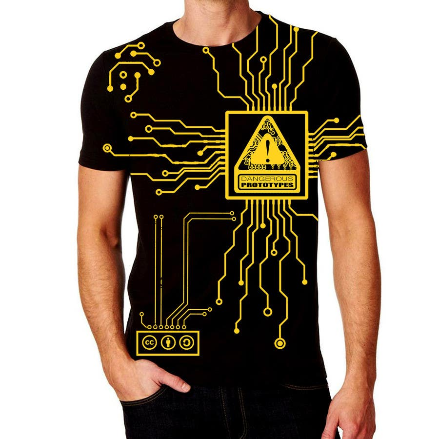Design a t shirt for electronics open source hardware for Make photo t shirt online