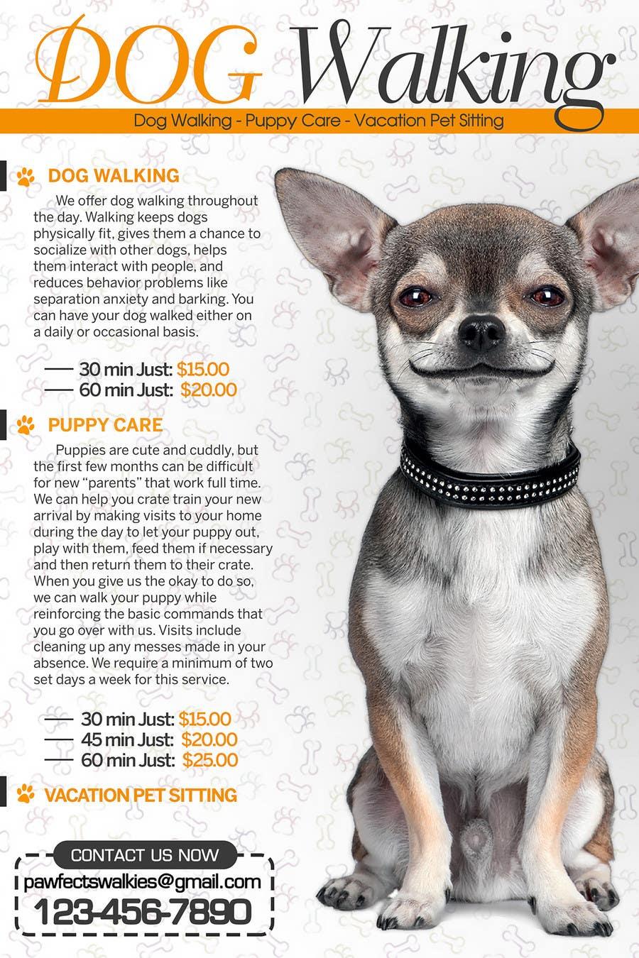 design a flyer for dog walking company lancer 4 for design a flyer for dog walking company by tduongvn