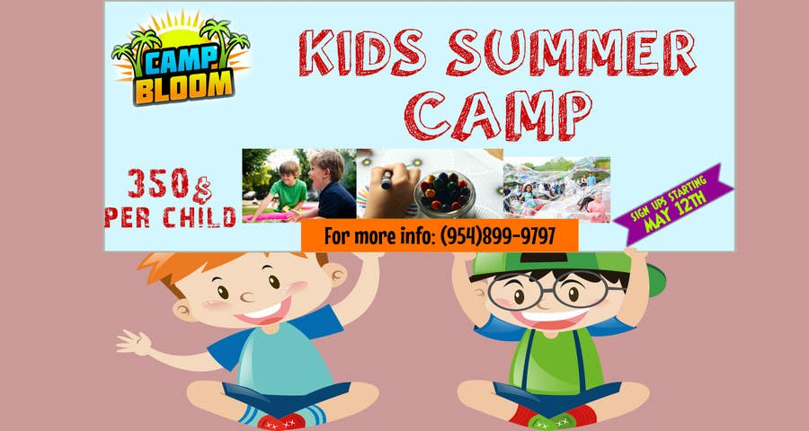 entry 8 by hsam123 for design a banner for kid s summer camp