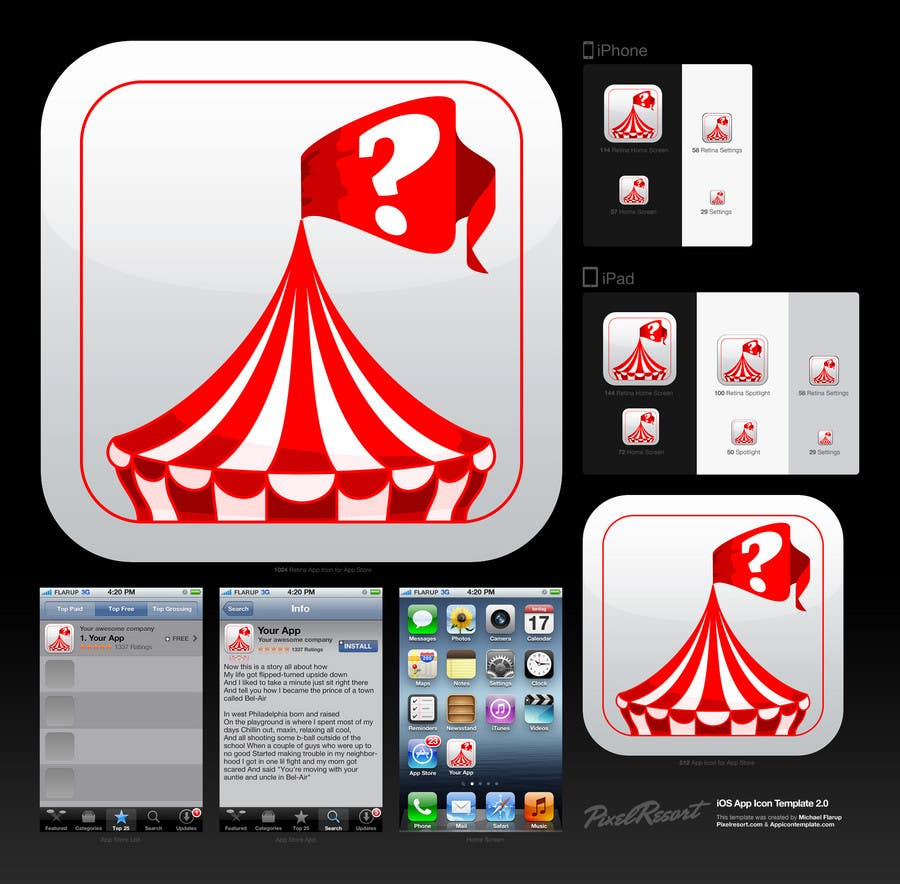 Proposition n°2 du concours IOS App Icon Design for whichfestival.com