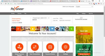 Image of                             Help with PAYONEER finances i ne...