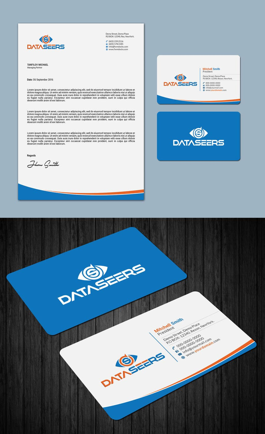 Entry #34 by mahmudkhan44 for Letterhead and Business Card Design ...