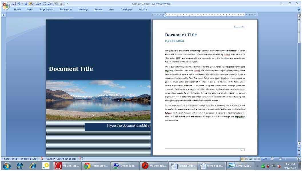 #8 for Word Document Template by Floralfs