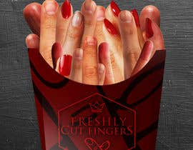 "#14 para Large 3' x 4' poster for a zombie fast food restaurant of a box of ""severed fingers"" de Kitteehdesign"