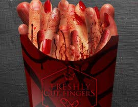 "#26 para Large 3' x 4' poster for a zombie fast food restaurant of a box of ""severed fingers"" de Kitteehdesign"