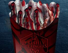 "#28 para Large 3' x 4' poster for a zombie fast food restaurant of a box of ""severed fingers"" de Kitteehdesign"