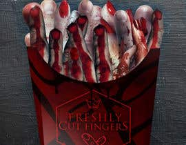 "#29 para Large 3' x 4' poster for a zombie fast food restaurant of a box of ""severed fingers"" de Kitteehdesign"