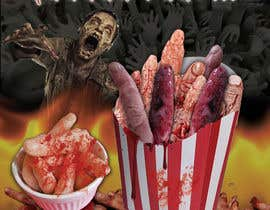 "#12 para Large 3' x 4' poster for a zombie fast food restaurant of a box of ""severed fingers"" de engrmykel"