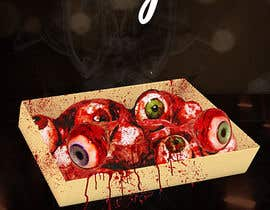 #30 para Large 3' x 4' poster for a zombie restaurant - a little box of eyeballs de syedanooshxaidi9