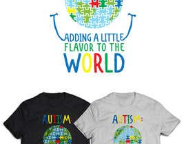 #24 for Autism World T Shirt by YKNB