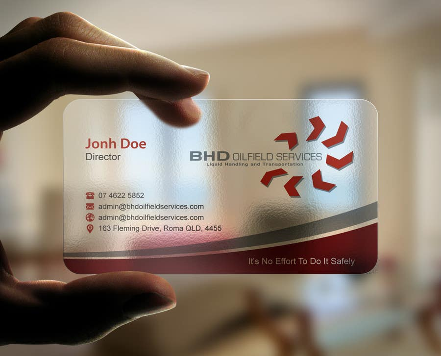 Entry #62 by mdreyad for BHD Oilfield Services Business Cards ...