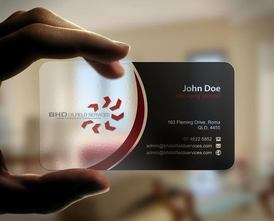 Entry #65 by mdreyad for BHD Oilfield Services Business Cards ...