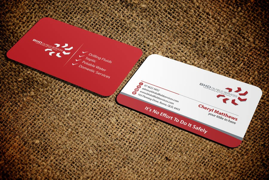 Entry #101 by mamun313 for BHD Oilfield Services Business Cards ...