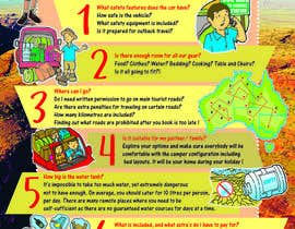 #18 for Design an informational flyer with illustrations for an Australian camper rental company by reddmac