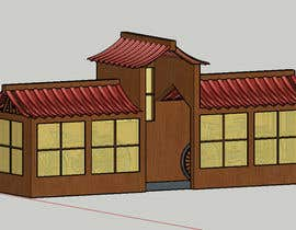 #4 for Japanese/ Chinese Roof Construction for Bicycle shed by CADbyElizabeth