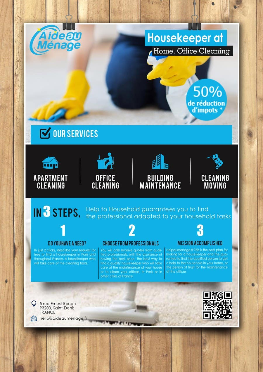 entry 69 by dreamachievers for create a flyer for a cleaning