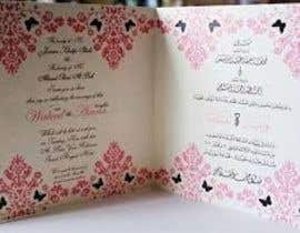 "#10 for Best ""Arabic"" WEDDING invitation design by raihan103314"