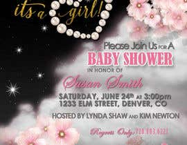 #10 for Design Baby Shower Invitation for print and digital, and a FaceBook Landing Page af laineyflash