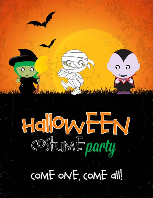 entry 10 by rabiaqasim for design a flyer for a halloween costume