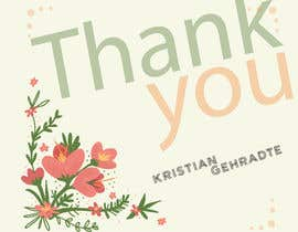 #8 for I need some Graphic Design for a thank you note by ankurrpipaliya