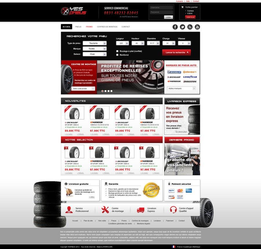 #38 for Website Design for Tyres by dragnoir