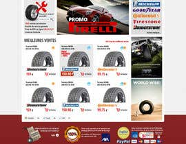nº 18 pour Website Design for Tyres par hipnotyka