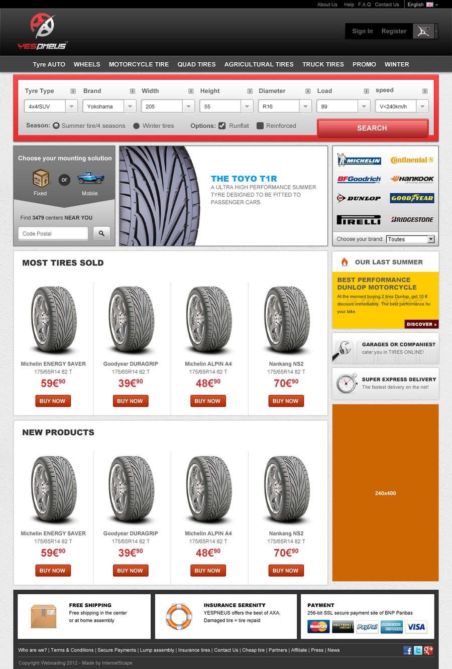 Inscrição nº 7 do Concurso para Website Design for Tyres