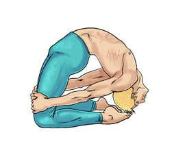 #6 for Male Yoga Model / Cartoon / Drawing by marinasanc