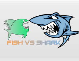 #11 for Fish vs Shark Icon/Logo by achrafboukili1