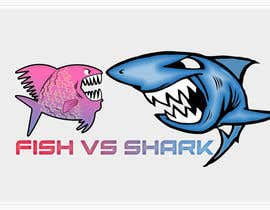 #24 for Fish vs Shark Icon/Logo by achrafboukili1