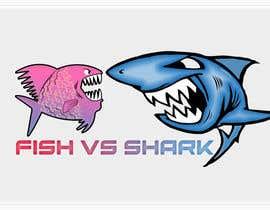 #24 for Fish vs Shark Icon/Logo by achrafboukili1