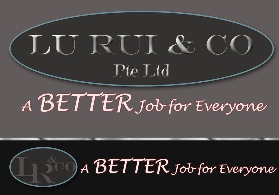 Inscrição nº                                         46                                      do Concurso para                                         Logo Design for Lu Rui & Co: A Better Job for Everyone