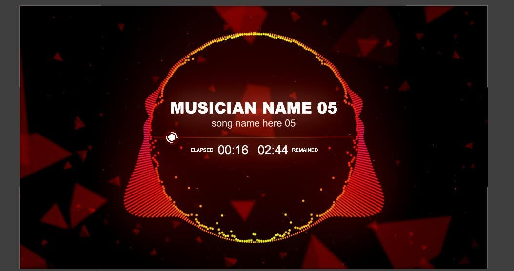 Top Entries After Effects Music Video Original Template Freelancer - Music video template after effects