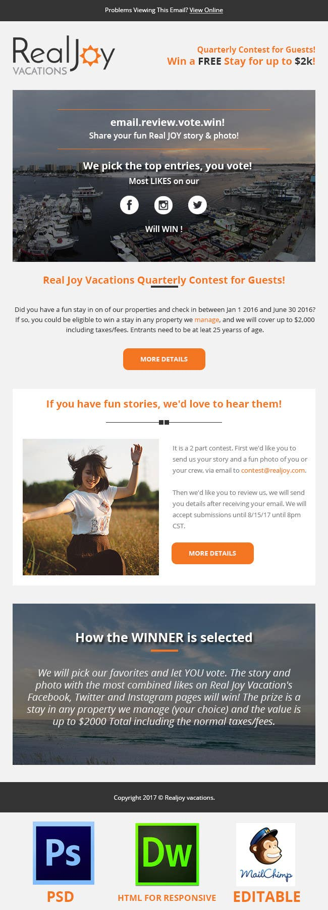 redesign this email template must be responsive freelancer. Black Bedroom Furniture Sets. Home Design Ideas