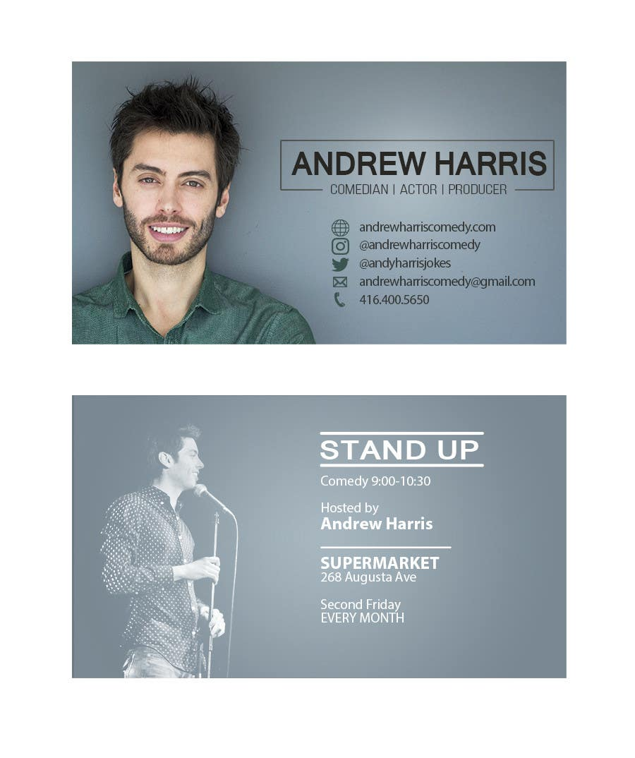 Entry #65 by Burmistrova for Comedy/Acting Business Cards | Freelancer