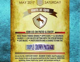 #17 for 11x17 Graphic for Kentucky Derby Party by DhrubaBanerjee11