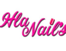 #32 for Hla Nails logo by mohammadArif200