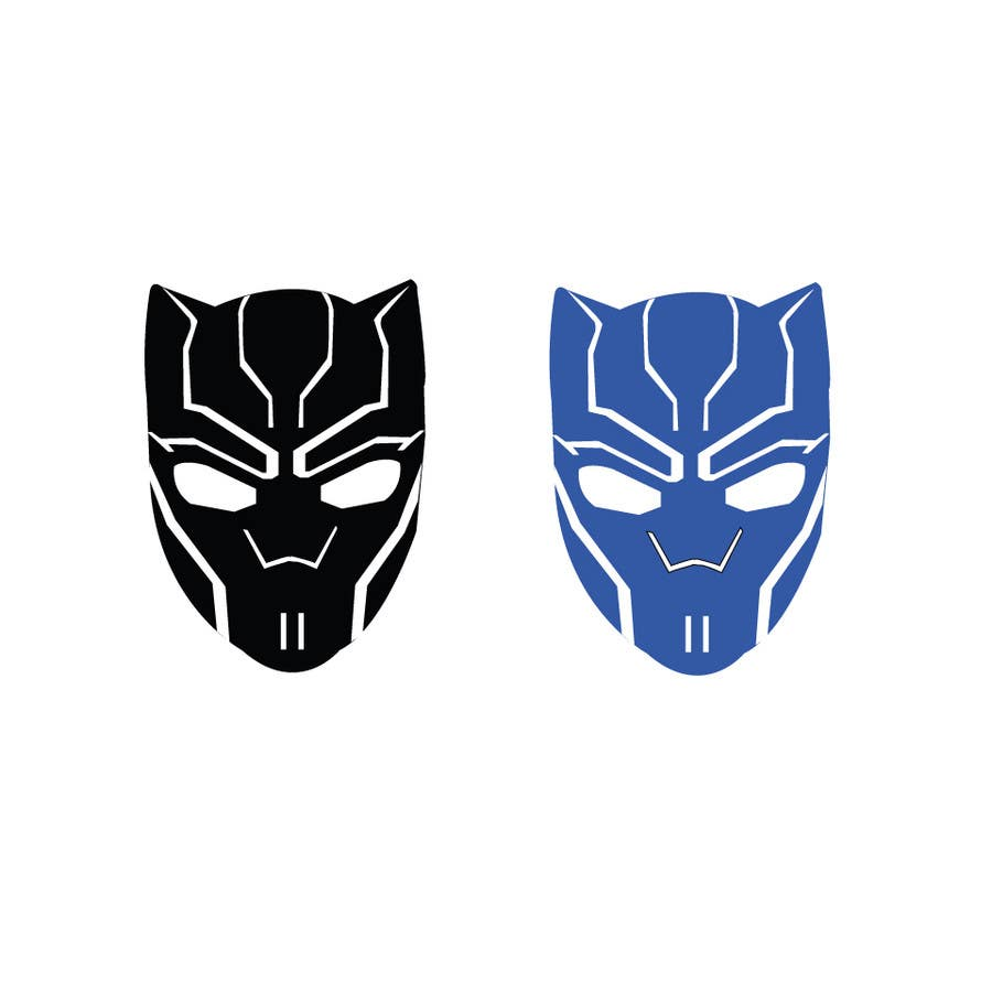 Entry #17 by YaSsin007 for Vector Black Panther face logo ...